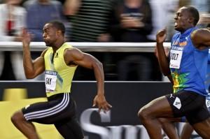Por primera vez en dos años, el jamaicano Usain Bolt fue superado en el hectómetro