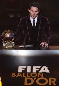 Lionel Messi Balón de Oro 2011